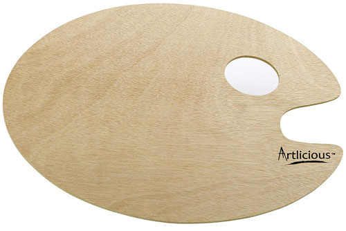 Oval Shaped Wooden Palette by Artlicious