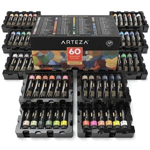 ARTEZA Gouache Paint 12mL 60 Tube Paint Set