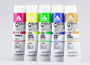 Holbein Acryla Gouache Mixing Set review