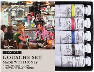 M. Graham 1/2oz. Primary Gouache 5 Tube Paint Set