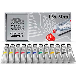 Winsor and Newton Artists Acrylic Paint Tube Set review